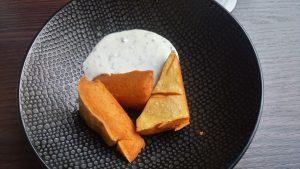 beignets de pois chiche fromage blanc la petite fringale saint jean de la blaquière en languedoc