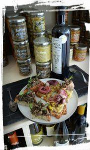 tartines olives, fenouil rue traversette pastis des homs surcré salé en languedoc