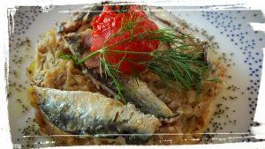 tarte tatin sardines restaurant pourpre olivier saint jean de fos languedoc pour sucré et salé