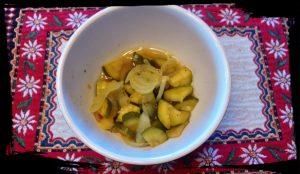 courgettes sucrées salées en languedoc