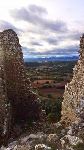 vue chateau aumelas atelier vincoeurs sucré salé en languedoc