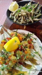 friture jols lottes l'entonnoir halles de sète sucré salé en languedoc