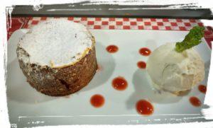 fondant au chocolat o bistrot saint guilhem le desert sucré salé en languedoc