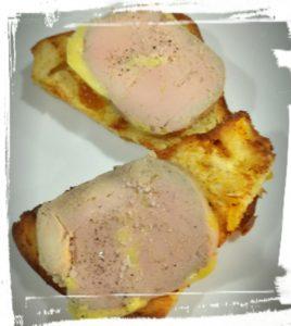 foie gras mi cuit o bistrot saint guilhem le desert sucré salé en languedoc