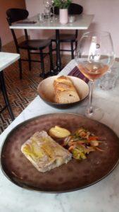 terrine de foie gras la petite table castigno sucré salé en languedoc