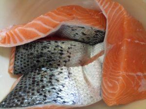 saumon pour terrine à l'estragon sucré salé en languedoc