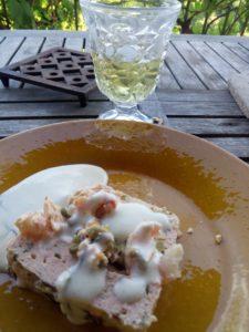 terrine de poisson à l'estragon sucré salé en languedoc