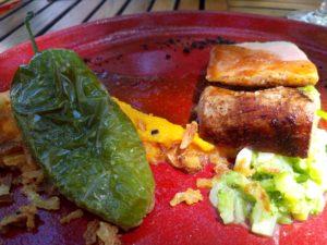 cochon basse température terrasse du mimosa montpeyroux sucré salé en languedoc