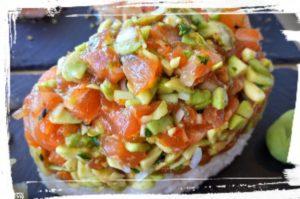 tartare de thon sushi by les caves gourmandes gignac sucré salé en languedoc